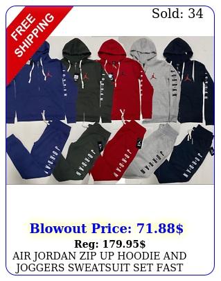 air jordan zip up hoodie joggers sweatsuit set fast free shipping track sui