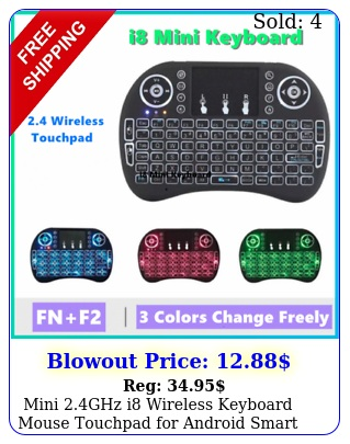 mini ghz i wireless keyboard mouse touchpad android smart tv lapto