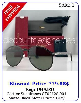 cartier sunglasses cts matte black metal frame gray polarized lens m