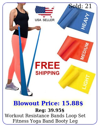 workout resistance bands loop set fitness yoga band booty leg exercise theraban