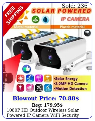 p hd outdoor wireless solar powered ip camera wifi security night vision ca