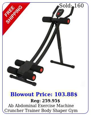 ab abdominal exercise machine cruncher trainer body shaper gym equipmentus