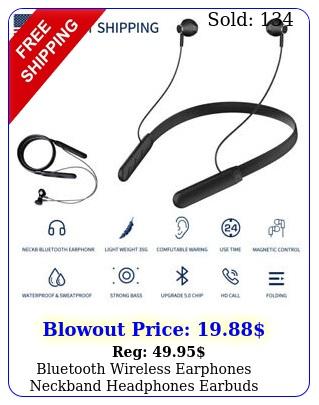 bluetooth wireless earphones neckband headphones earbuds headset iphone androi