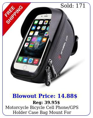 motorcycle bicycle cell phonegps holder case bag mount handlebar waterproo