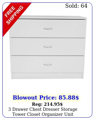 drawer chest dresser storage tower closet organizer unit bedroom home whit