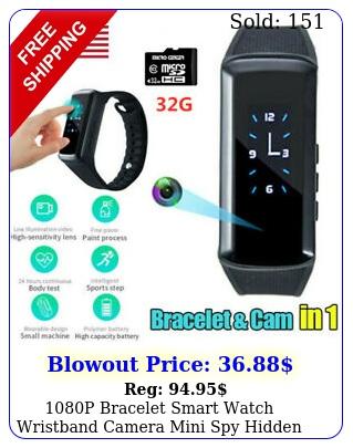 p bracelet smart watch wristband camera mini spy hidden dvr video recorde