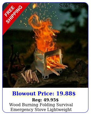 wood burning folding survival emergency stove lightweight camping gear hikin