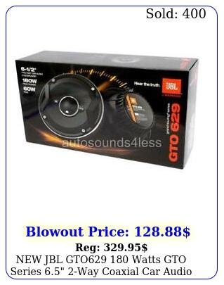 jbl gto watts gto series way coaxial car audio speaker