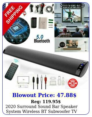 surround sound bar speaker system wireless bt subwoofer tv theater remot
