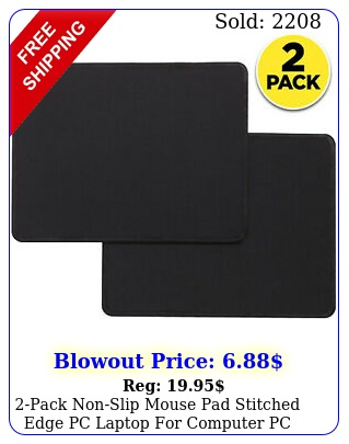 pack nonslip mouse pad stitched edge pc laptop computer pc gaming rubbe