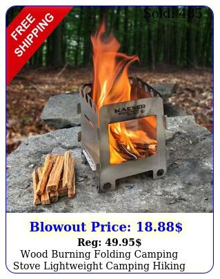 wood burning folding camping stove lightweight camping hikin