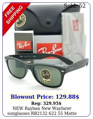 rayban wayfarer sunglasses rb  matte black g authenti