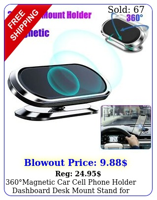 magnetic car cell phone holder dashboard desk mount stand iphone samsun