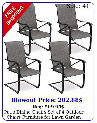 patio dining chairs set of outdoor chairs furniture lawn garden balcon