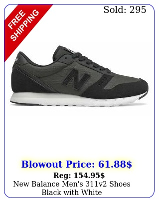 balance men's v shoes black with whit
