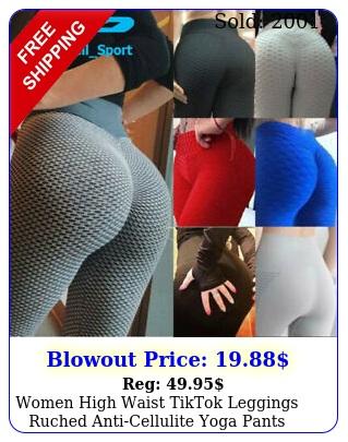 women high waist tiktok leggings ruched anticellulite yoga pants gym fitness u