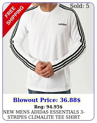 mens adidas essentials stripes climalite tee shirt size xl e