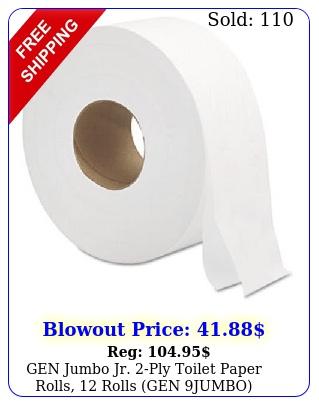 gen jumbo jr ply toilet paper rolls rolls gen jumb