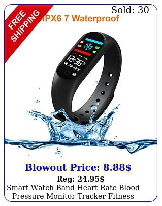 smart watch band heart rate blood pressure monitor tracker fitness wristban