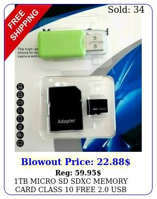 tb micro sd sdxc memory card class free usb adapte