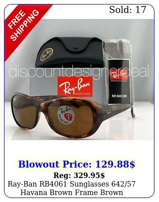rayban rb sunglasses havana brown frame brown polarized lenses m