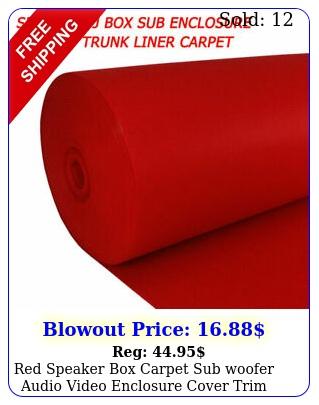 red speaker carpet sub woofer audio video enclosure cover trim