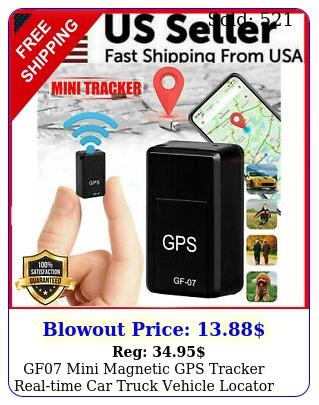 gf mini magnetic gps tracker realtime car truck vehicle locator gsm gprs us