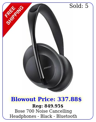 bose noise cancelling headphones black bluetooth brand new seale