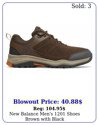 balance men's shoes brown with blac