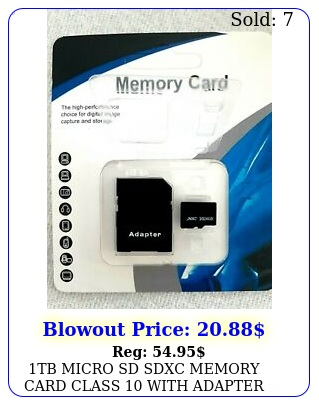 tb micro sd sdxc memory card class with adapte
