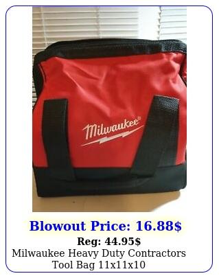 milwaukee heavy duty contractors tool bag x