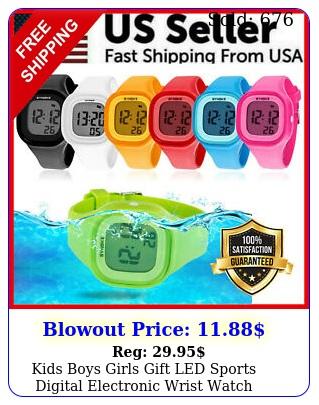 kids boys girls gift led sports digital electronic wrist watch waterproof chil