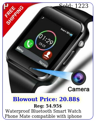 waterproof bluetooth smart watch phone mate compatible with iphone ios androi