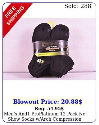 men's and proplatinum pack no show socks warch compression black