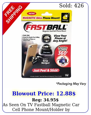 as seen on tv fastball magnetic car cell phone mountholder by bulbhea