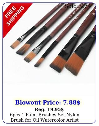 pcs paint brushes set nylon brush oil watercolor artist painting ar
