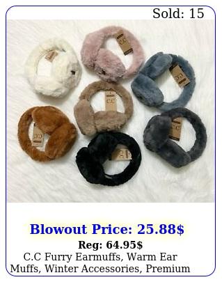 cc furry earmuffs warm ear muffs winter accessories premium accessorie