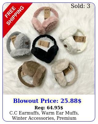 cc earmuffs warm ear muffs winter accessories premium accessorie