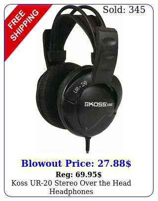 koss ur stereo over the head headphone