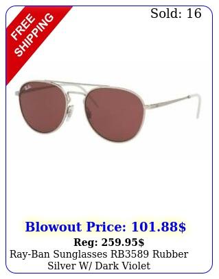 rayban sunglasses rb rubber silver w dark viole