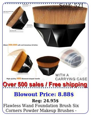 flawless wand foundation brush six corners powder makeup brushes free shippin