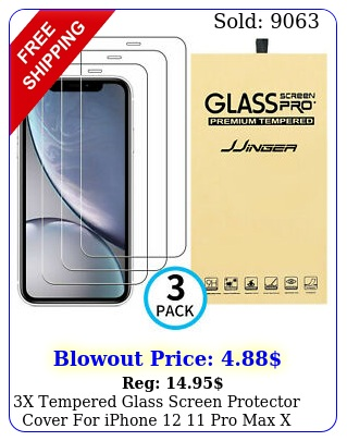 x tempered glass screen protector cover iphone  pro max x xs xr