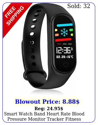 smart watch band heart rate blood pressure monitor tracker fitness tracke