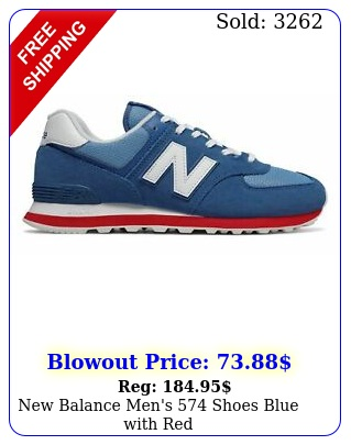 balance men's shoes blue with re