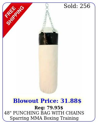 punching bag with chains sparring mma boxing training canvas heavy dut