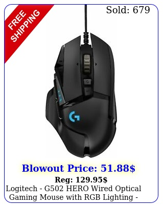 logitech g hero wired optical gaming mouse with rgb lighting blac