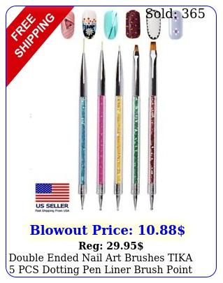 double ended nail art brushes tika pcs dotting pen liner brush point drill u