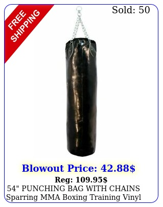 punching bag with chains sparring mma boxing training vinyl heavy duty re