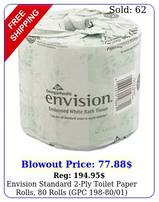 envision standard ply toilet paper rolls rolls gp