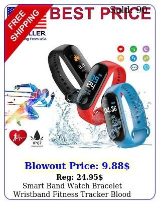 smart band watch bracelet wristband fitness tracker blood pressure heartrate